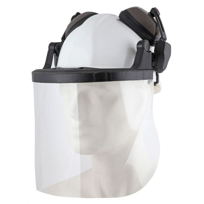 Safety Helmet with Visor and Ear Defenders
